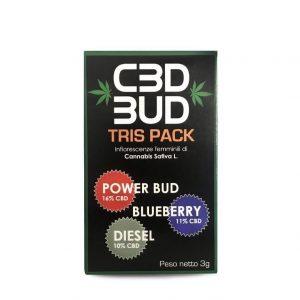CBD BUD tris pack